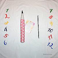 Фотозона и карандаш ростомер для девочки, расцветка птички