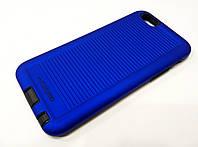 Чехол накладка противоударная Motomo Sport (Stripes) для iPhone 6 / 6s синий