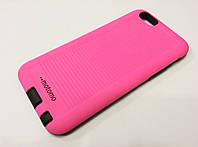 Чехол накладка противоударная Motomo Sport (Stripes) для iPhone 6 / 6s розовая
