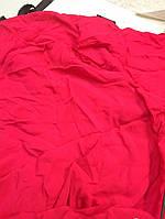 Ткань натуральная шелк-поплин набор 4куска (80см *135см + 60см* 135+50*135+78*135)фуксия яркий мерный лоскут