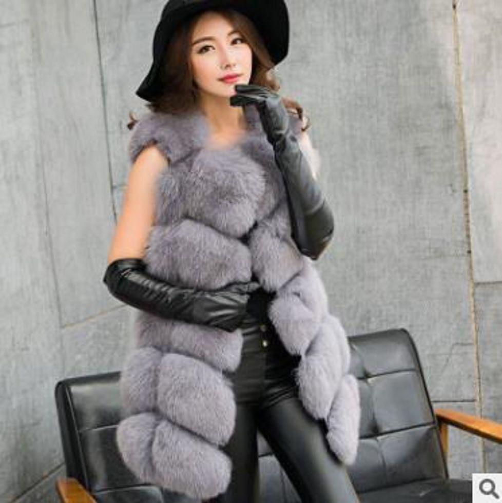 Женские зимние, толстые, теплые меховые жилеты жилеты для леди.
