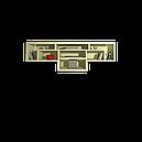 Полиця навісна з ДСП Labirynt-14 ваніль Blonski , фото 2