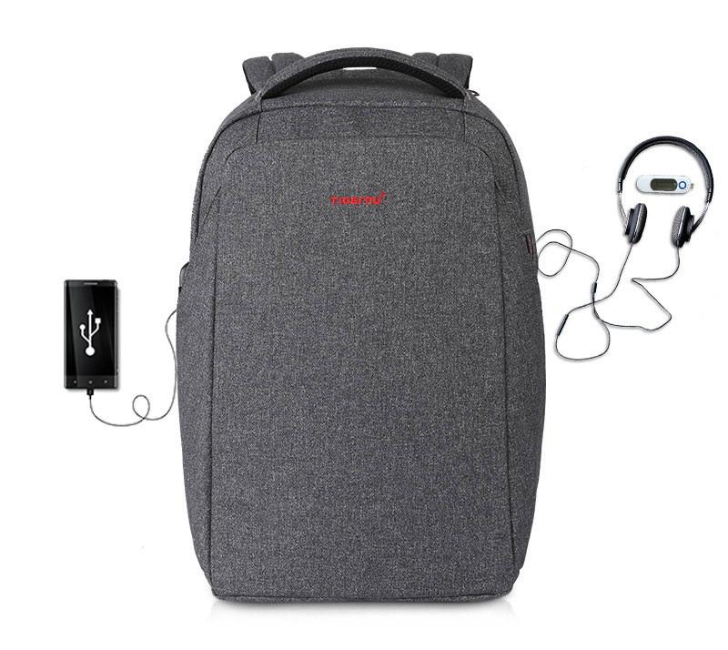 """Фирменный рюкзак для ноутбука 15,6"""" Тigernu T-B3237 серый"""