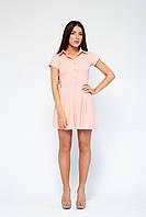 fbc267b4980 Короткое женское платье Аделина персик
