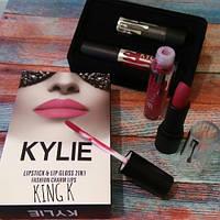 Набор помада + блеск Kylie Jenner Lipstick Lip Gloss 2 in 1  Новинка!
