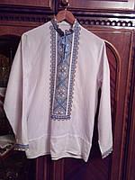 Сорочка цвет белый домотканное полотно лен   , сорочка машинной вышивки от производителя модель ВГ27