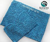 Набор ковриков в ванную комнату Лапша 60х90 см Голубой