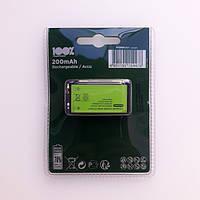 Аккумуляторы 100% PeakPower Rechargeable HR22 Ni-MH 200mAh Крона 9V / 8.4V 1шт Blister