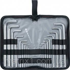 Набор ключей имбусовых HEX-TORX, 18 шт: HEX 1,5–10 мм, T10-T50, CrV, удлиненных, с сатиновым покрытием MTX