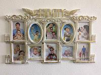 Большая мультирамка Family с птицами на 10 фотографий