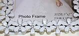 Фоторамка белая с серебристым, цветы, 13х18 см, фото 3