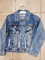 Джинсовая куртка для девочки оптом 8-16л