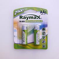 Аккумуляторы Raymax Rechargeable AA HR6 Ni-MH 2500mAh 1.2V 2шт Blister