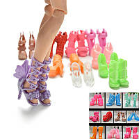 Модная,яркая кукольная обувь 10пар, фото 1