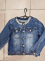 Джинсовая куртка для девочки оптом 6-16л