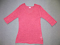 Вишнёвая вязаная блузка Blue motion на короткий рукав Размер М/L