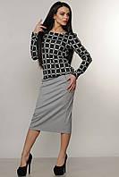 Костюм-двойка состоит из блузы (кофты) из ангоры и и юбки-миди, 42-52 размеры