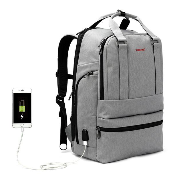 """Фирменный рюкзак для ноутбука 15,6"""" Тigernu  T-B3243 серый"""