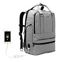 "Фирменный рюкзак для ноутбука 15,6"" Тigernu  T-B3243 серый, фото 1"