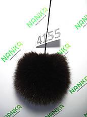 Меховой помпон Песец, Т. Шоколад, 10 см, 4155, фото 2