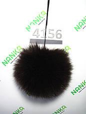 Меховой помпон Песец, Т. Шоколад, 10 см, 4156, фото 2