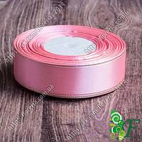 004-Атласная лента с люрексом 25мм розовая/золото