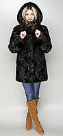 Женская шуба темно-коричневая норка по 58й рр