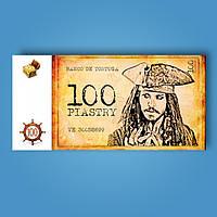 Деньги сувенирные пиратские пиастры - 80 шт