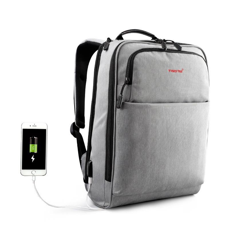 """Фирменный рюкзак для ноутбука 15,6"""" Тigernu  T-B3305 серый"""