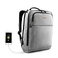 "Фирменный рюкзак для ноутбука 15,6"" Тigernu  T-B3305 серый, фото 1"