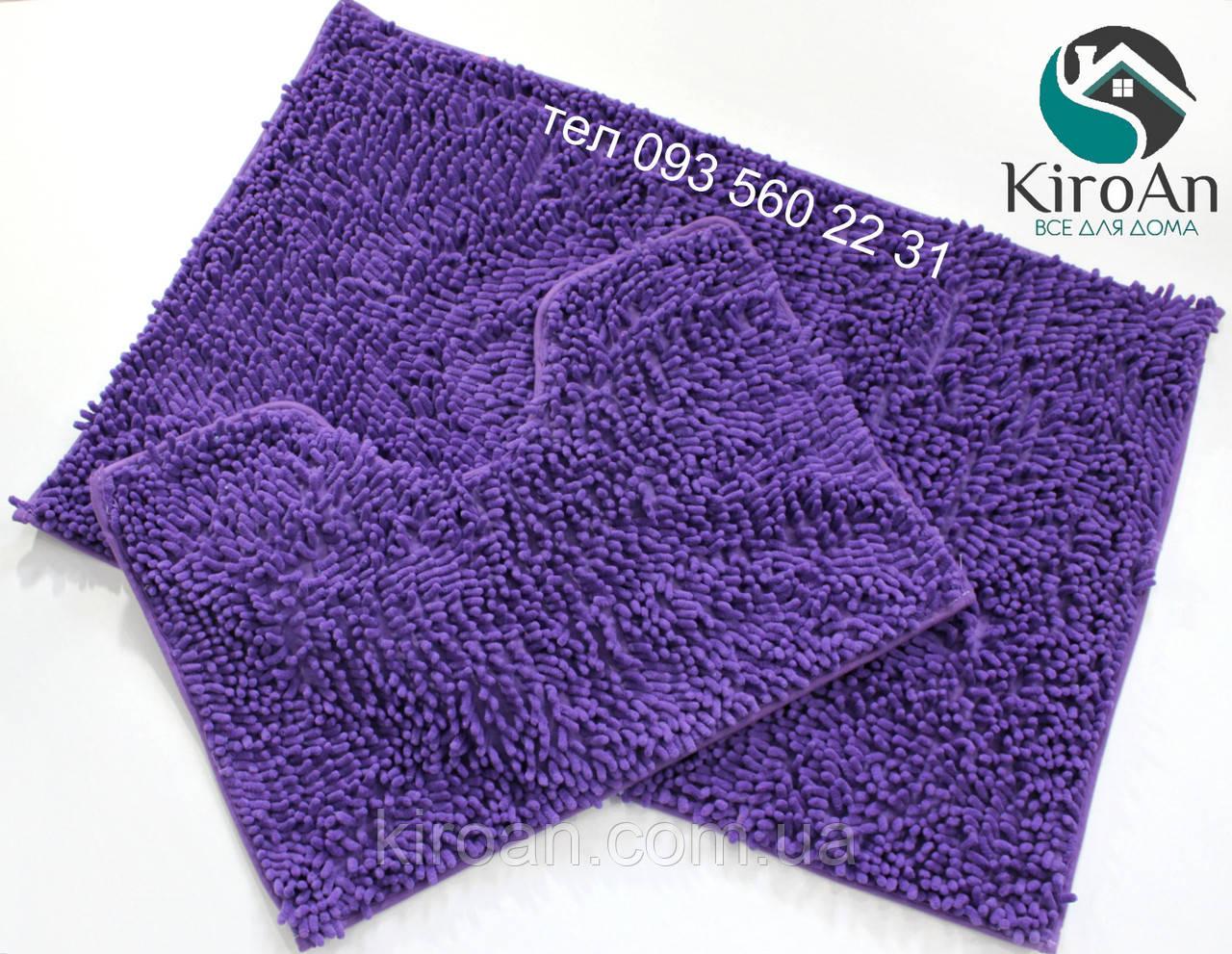 Набор ковриков в ванную комнату Лапша 60х90см Фиолетовый