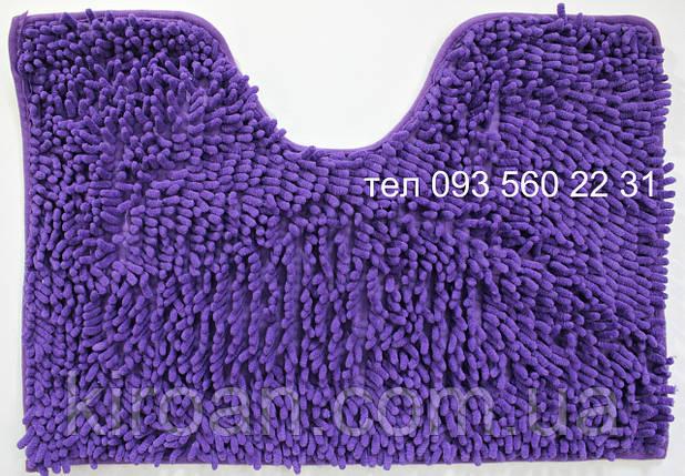 Набор ковриков в ванную комнату Лапша 60х90см Фиолетовый, фото 2