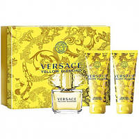 Versace Yellow Diamond - Набор (edt 5 + b/l 25 + sh/g 25) (Оригинал)