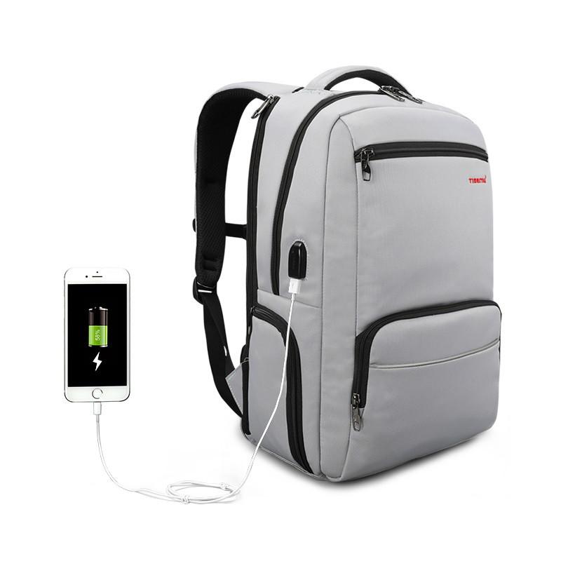 """Фирменный рюкзак для ноутбука 15,6"""" Тigernu T-B3319 серый"""