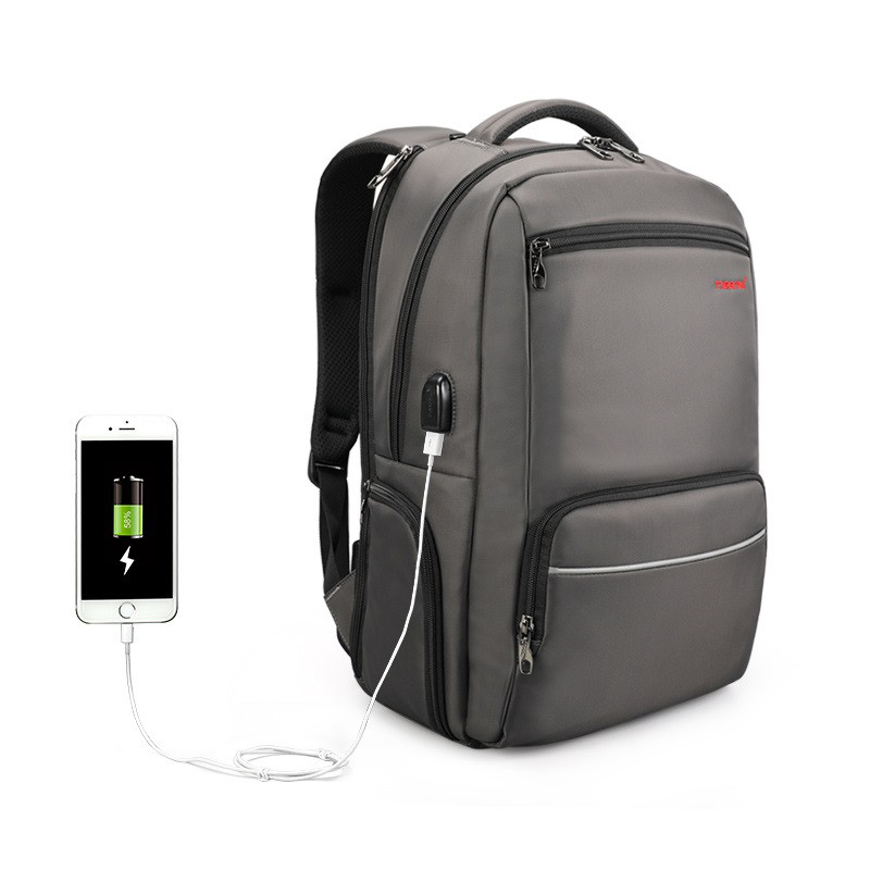 """Фирменный рюкзак для ноутбука 15,6"""" Тigernu T-B3319 кофейный"""