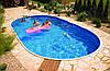 Каркасный бассейн морозоустойчивый овальный Azuro 405 DL 7,3 х 3,7 х 1,2