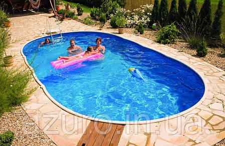 Каркасный бассейн морозоустойчивый овальный Azuro 405 DL 7,3 х 3,7 х 1,2, фото 2