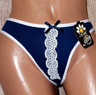 Трусы - бикини  с кружевом котон №22 размер 48-50