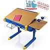 Детский стол  BD-1122  столешница бук / ножки синие