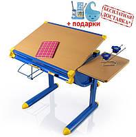Детский стол  BD-1122  столешница бук / ножки синие, фото 1
