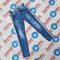 Подростковые джинсы для девочек с лампасами оптом Dream Girl, фото 1