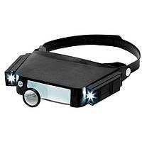 Бинокулярные очки MG81007 с LED подсветкой, увеличение:1,5Х; 3Х; 6,5Х; 8Х