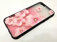 Чехол Remax Cover Glamour Series для iPhone 6 / 6s розовый большие цветы