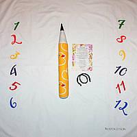 Фотозона и карандаш ростомер, расцветка уточки