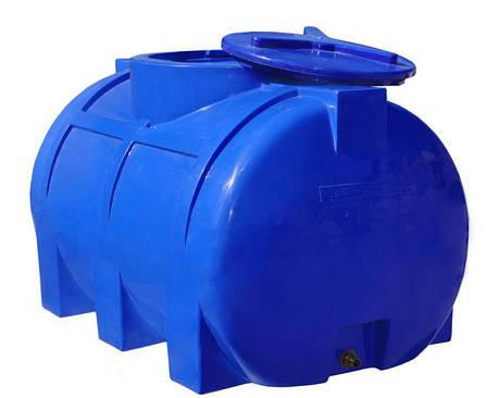 Бак, бочка, емкость 250 литров пищевая двухслойная горизонтальная 300 200 RGД, фото 2