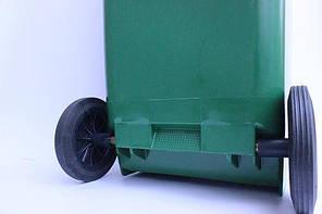 Контейнер для мусора 120 литров бак на колесах зеленый емкость Тип В 100 150, фото 2