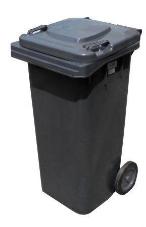 Контейнер для мусора 120 литров бак на колесах черный емкость Тип В 100 150