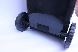 Контейнер для мусора 120 литров бак на колесах черный емкость Тип В 100 150, фото 2