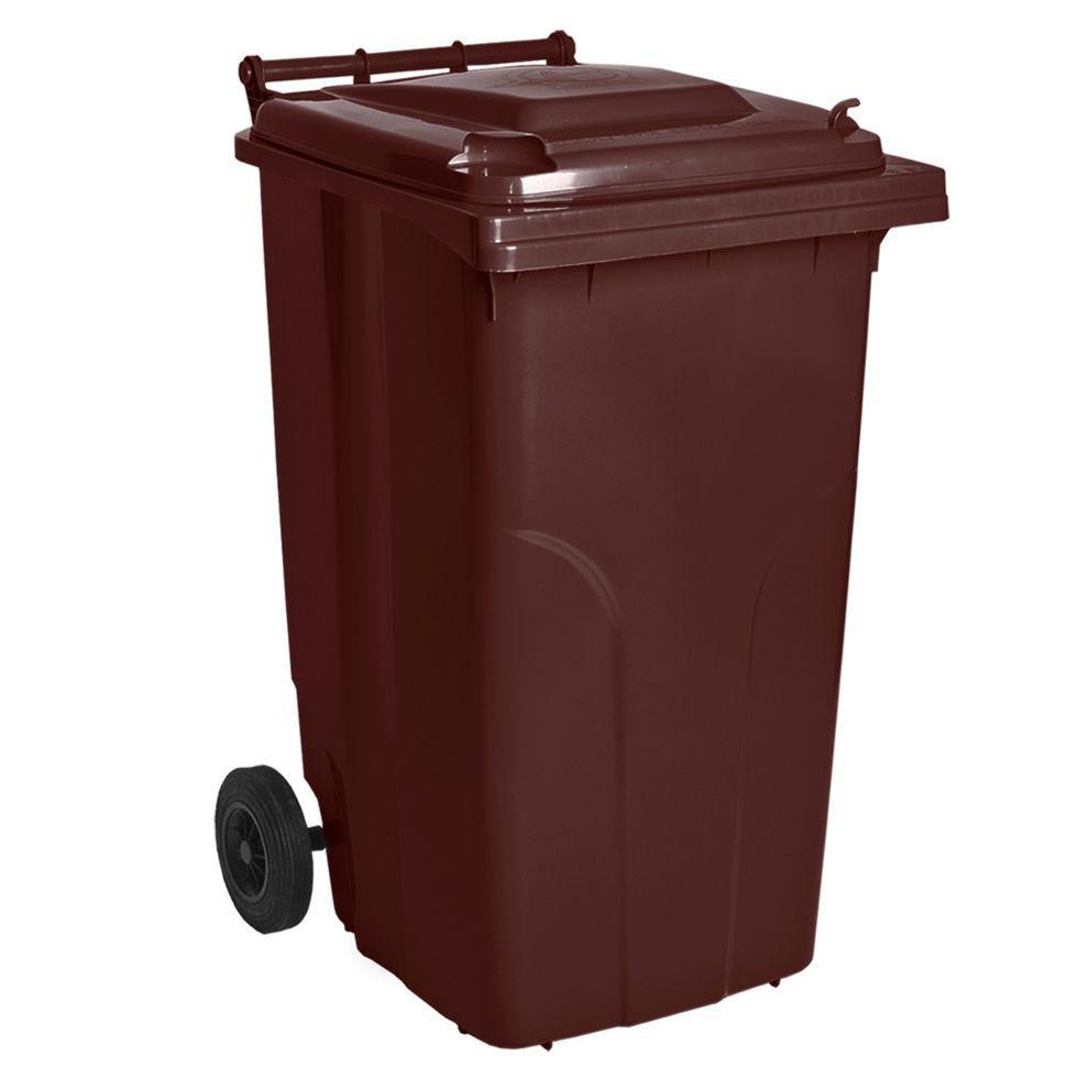 Контейнер для мусора 240 литров бак на колесах коричневый емкость Тип А 200 250 300