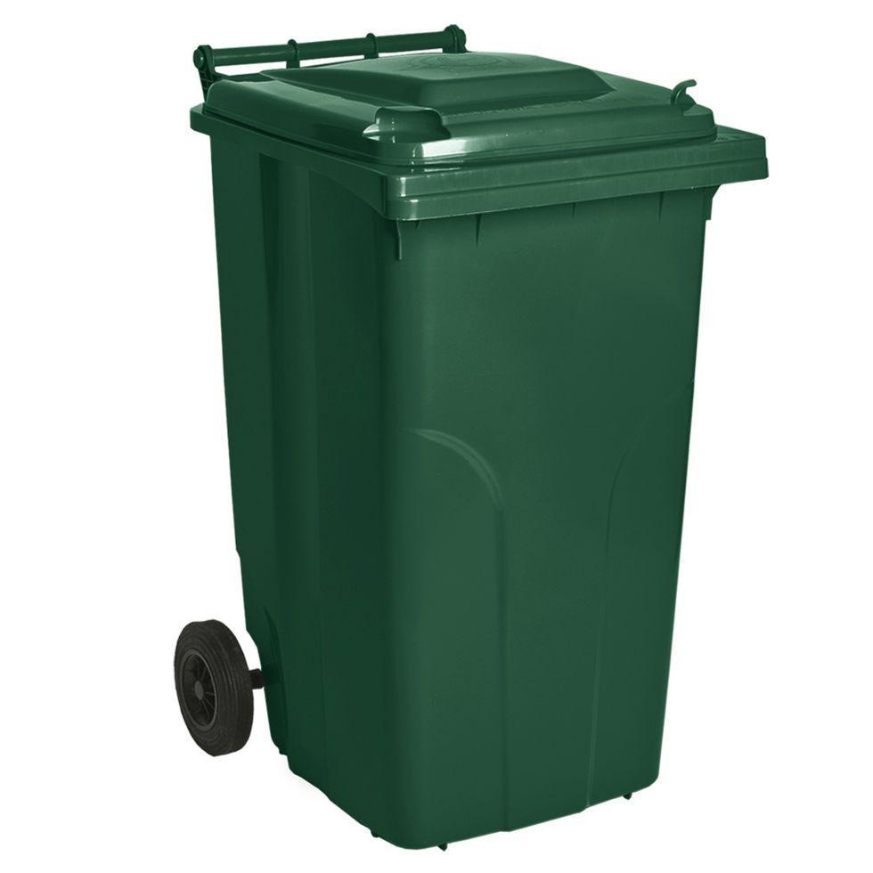 Контейнер для мусора 240 литров бак на колесах зеленый емкость Тип А 200 250 300